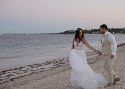 Wedding Couple on the Beach in Punta Cana
