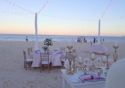 Beach Wedding Dinner in the Caribbean