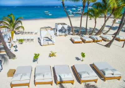 VIP Beach Area at the all-inclusive hotel BeLive Collection in Punta Cana, Dominican Republic
