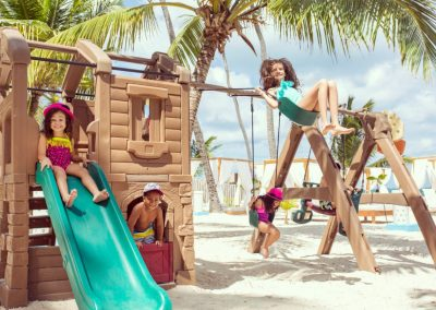 Kids area on the beach of the all-inclusive hotel BeLive Collection in Punta Cana, Dominican Republic