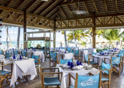 Lobster restaurant at the all-inclusive hotel BeLive Collection in Punta Cana, Dominican Republic