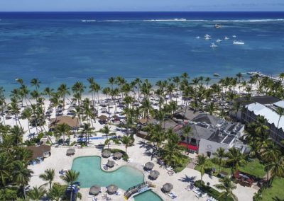 Pool and beach area of the all-inclusive hotel BeLive Collection in Punta Cana, Dominican Republic