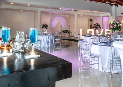 Ballroom wedding dinner at the all-inclusive hotel BeLive Collection in Punta Cana