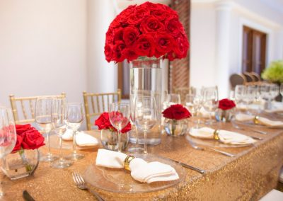 Wedding dinner on the terrace of the all-inclusive hotel BeLive Collection in Punta Cana