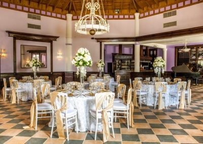Wedding dinner in the ballroom of the all-inclusive hotel BeLive Collection in Punta Cana