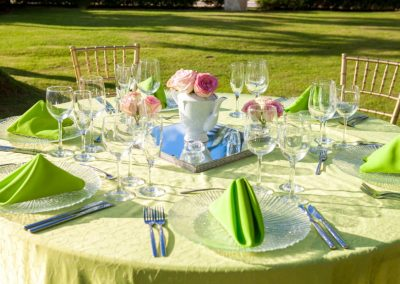 Dinner in the tropical garden of the all-inclusive hotel BeLive Collection in Punta Cana