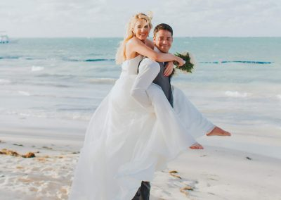 Newlyweds in the Caribbean