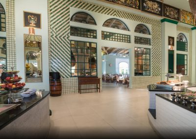 Buffet restaurant at the all inlusive hotel Iberostar Hacienda Dominicus in Bayahibe, Dominican Republic
