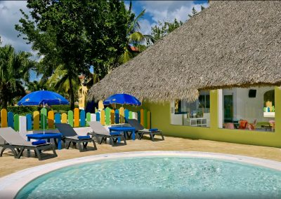 Kids club and pool at the all inlusive hotel Iberostar Hacienda Dominicus in Bayahibe, Dominican Republic
