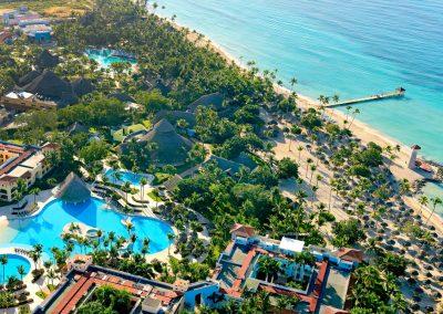 Overview of the all inlusive hotel Iberostar Hacienda Dominicus in Bayahibe, Dominican Republic
