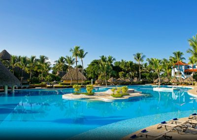 Pool area at the all inlusive hotel Iberostar Hacienda Dominicus in Bayahibe, Dominican Republic