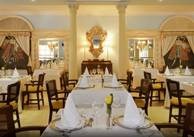 A-la-carte restaurant at the all inlusive hotel Iberostar Hacienda Dominicus in Bayahibe, Dominican Republic
