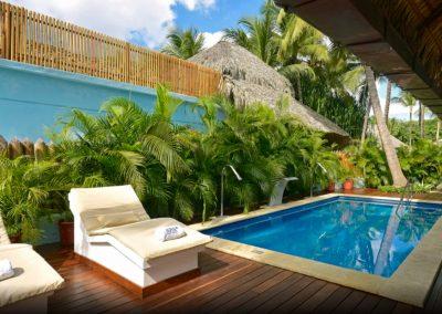 Quiet Spa area at the all inlusive hotel Iberostar Hacienda Dominicus in Bayahibe, Dominican Republic