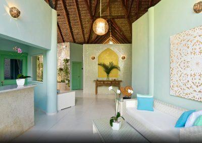 Spa Entrance at the all inlusive hotel Iberostar Hacienda Dominicus in Bayahibe, Dominican Republic