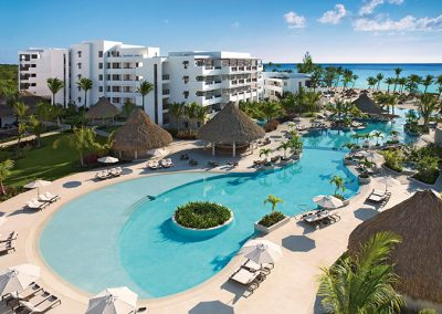 Main Pool Area at the all-inclusive hotel Secrets Cap Cana in Punta Cana, Dominican Republic