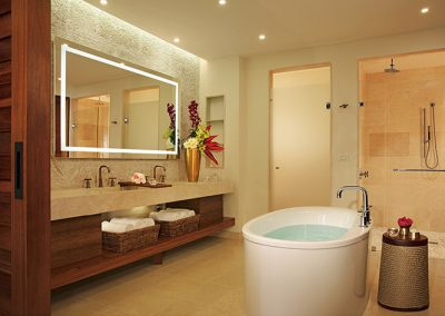Master Suite Bathroom at the all-inclusive hotel Secrets Cap Cana in Punta Cana, Dominican Republic