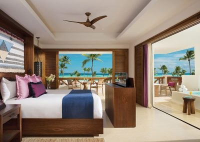 Master Suite Bedroom at the all-inclusive hotel Secrets Cap Cana in Punta Cana, Dominican Republic