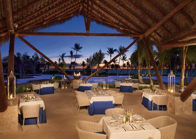 Oceana Restaurant at the all-inclusive hotel Secrets Cap Cana in Punta Cana, Dominican Republic