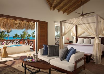 Preferred Club Bungalow Master Suite with wonderful views at the all-inclusive hotel Secrets Cap Cana in Punta Cana, Dominican Republic