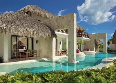 Bungalows with Swim Out Pool at the all-inclusive hotel Secrets Cap Cana in Punta Cana, Dominican Republic