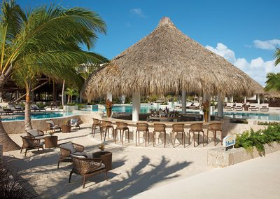 Poolside bar at the all-inclusive hotel Secrets Cap Cana in Punta Cana, Dominican Republic