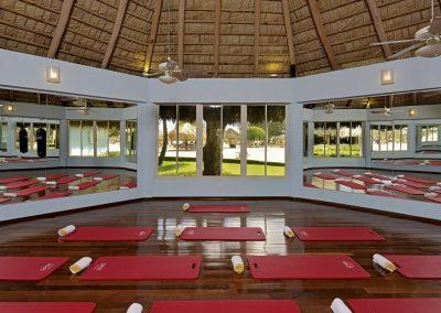 Gym at the all-inclusive hotel Iberostar Hacienda Dominicus in Bayahibe