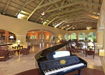 Piano Bar at the all-inclusive hotel Iberostar Hacienda Dominicus in Bayahibe