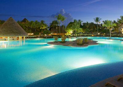 Pool at the all-inclusive hotel Iberostar Hacienda Dominicus in Bayahibe