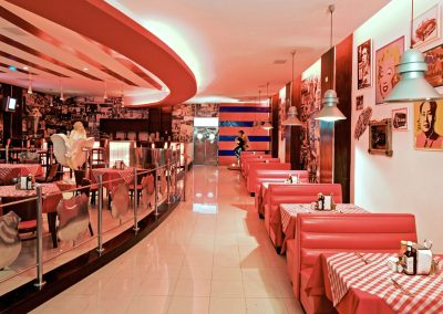 """American a la carte restaurant """"Route 66"""" at the all inlusive hotel Ocean Blue and Sand iin Punta Cana, Dominican Republic"""