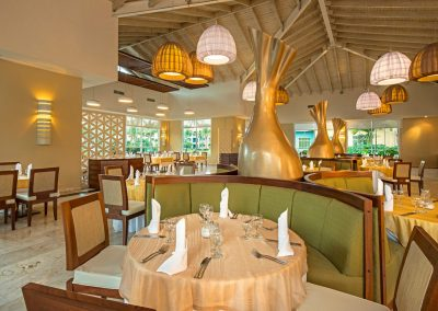 Buffet restaurant at the all inlusive hotel Ocean Blue and Sand iin Punta Cana, Dominican Republic