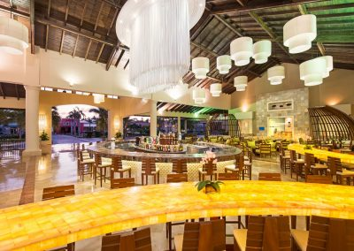 Lobby bar at the all inlusive hotel Ocean Blue and Sand iin Punta Cana, Dominican Republic