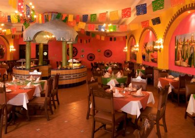 Mexican restaurant at the all inlusive hotel Ocean Blue and Sand iin Punta Cana, Dominican Republic
