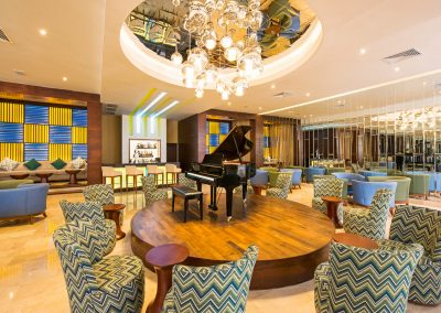 Piano bar at the all inlusive hotel Ocean Blue and Sand iin Punta Cana, Dominican Republic