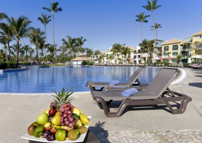 Pool area at the all inlusive hotel Ocean Blue and Sand iin Punta Cana, Dominican Republic