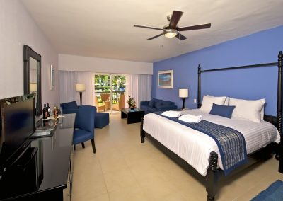 Privilege Junior Suite at the all inlusive hotel Ocean Blue and Sand iin Punta Cana, Dominican Republic
