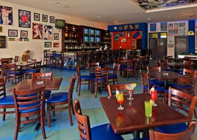 Sports bar at the all inlusive hotel Ocean Blue and Sand iin Punta Cana, Dominican Republic