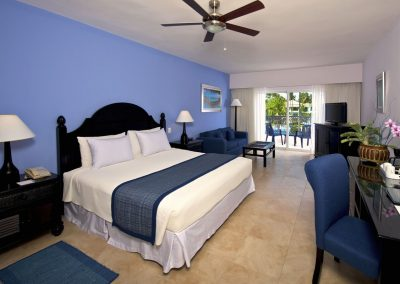 Junior Suite at the all inlusive hotel Ocean Blue and Sand iin Punta Cana, Dominican Republic