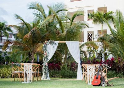 Tropical Garden Ceremony at the adults only all-inclusive hotel Secrets Cap Cana in Punta Cana, Dominican Republic