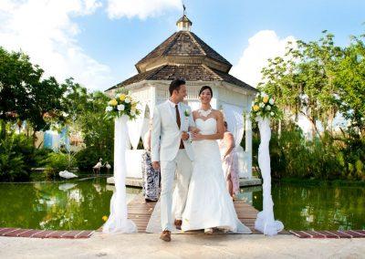 Beautiful Gazebo wedding ceremony at the all-inclusive hotel Iberostar Hacienda Dominicus in Bayahibe, Dominican Republic
