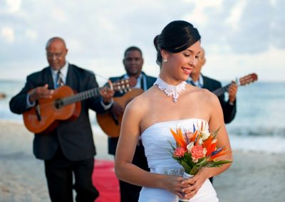 Traditional music for a wedding ceremony at the all-inclusive hotel Iberostar Hacienda Dominicus in Bayahibe, Dominican Republic