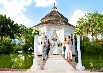 Wedding ceremony on the Gazebo at the all-inclusive hotel Iberostar Hacienda Dominicus in Bayahibe, Dominican Republic
