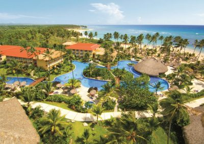 Aerial View of the all inclusive hotel Dreams Punta Cana in the Dominican Republic