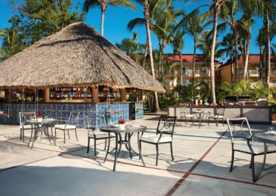 Beachfront snack restaurant at the all inclusive hotel Dreams Punta Cana in the Dominican Republic