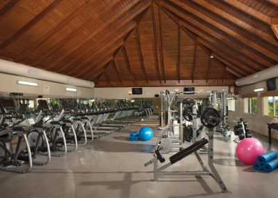 Gym at the all inclusive hotel Dreams Punta Cana in the Dominican Republic