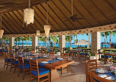 Ocean Front restaurant at the all inclusive hotel Dreams Punta Cana in the Dominican Republic