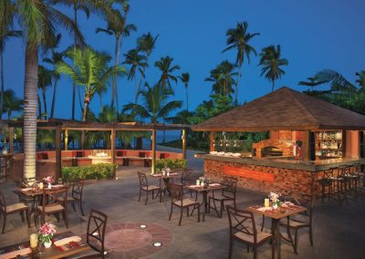 Italian specialty restaurant at the all inclusive hotel Dreams Punta Cana in the Dominican Republic