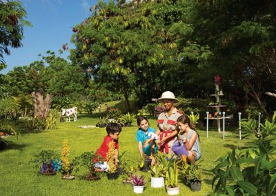 Botanical Garden of the Explorers Club at the all inclusive hotel Now Larimar in Punta Cana, Dominican Republic