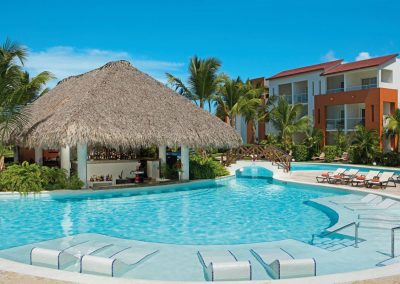 Swim Up Bar at the all inclusive hotel Now Larimar in Punta Cana, Dominican Republic