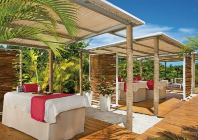 Spa Cabins at the all inclusive hotel Now Larimar in Punta Cana, Dominican Republic