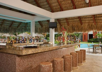 Pool Bar at the all inclusive hotel Now Larimar in Punta Cana, Dominican Republic